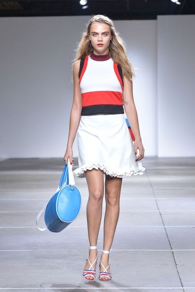 Topshop, Spring 2015 - Cara Delevingne on the Catwalk - Photos