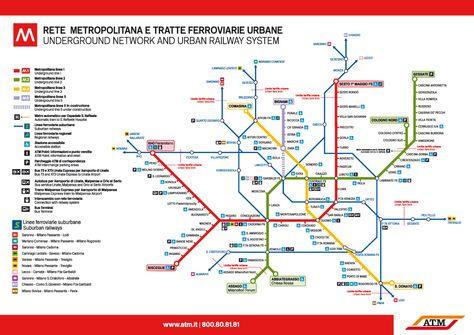 Milan subway and suburban railways map, 2013 | Metropolitana ...