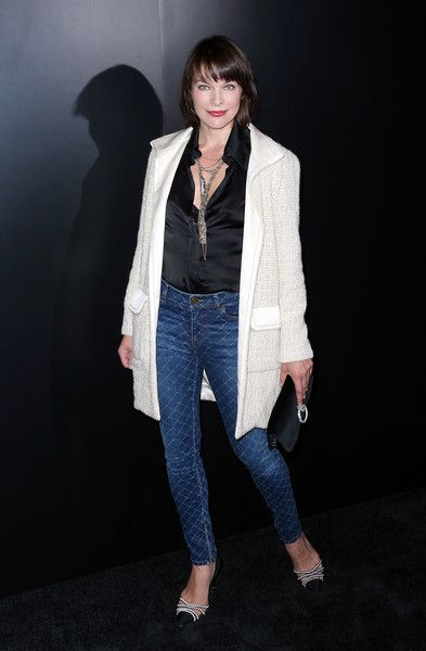 Actress Milla Jovovich attends a Chanel Dinner Celebrating N 5 L'Eau in Hollywood.