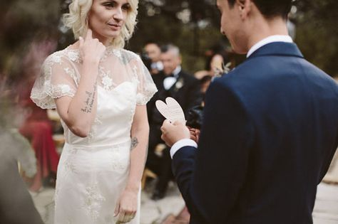 The Power of Words - Gorgeous Brides Flaunting Gorgeous Tattoos - Photos