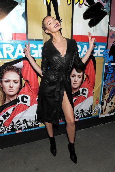 Candice Swanepoel in Marvel and Garage Magazine New York Fashion Week Event