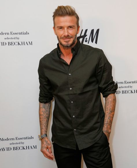 David Beckham attends the launch of David Beckham's H&M Modern Essentials Collection on September 26, 2016 in H&M at FIGat7th in Los Angeles, California.