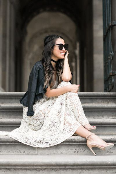 Lace and Leather - First Date Outfits and Ideas - Photos