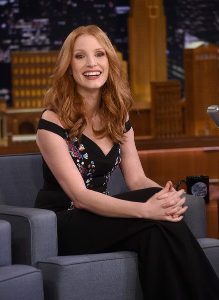 Jessica Chastain visits 'The Tonight Show Starring Jimmy Fallon.'