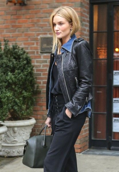 Rosie Huntington-Whiteley heads out and about in the East Village.