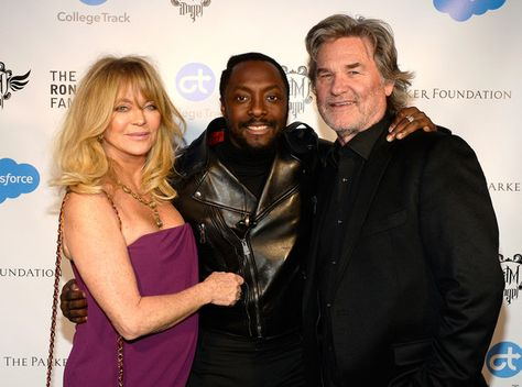 (L-R) Actress Goldie Hawn, will.i.am, and actor Kurt Russell attend will.i.am's i.am.angel Foundation TRANS4M 2016 Gala at Milk Studios on February 11, 2016 in Hollywood, California.