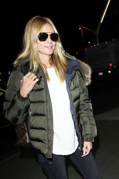 Heidi Klum arrives at LAX.