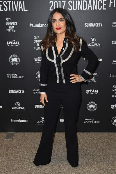 "Actress Salma Hayek attends the ""Beatriz At Dinner"" Premiere on day 5 of the Sundance Film Festival at Eccles Center Theatre on January 23, 2017 in Park City, Utah."