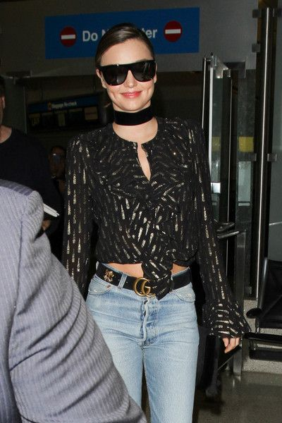 Miranda Kerr is seen at LAX.