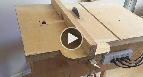 Простой стол для циркулярной пилы своими руками 20