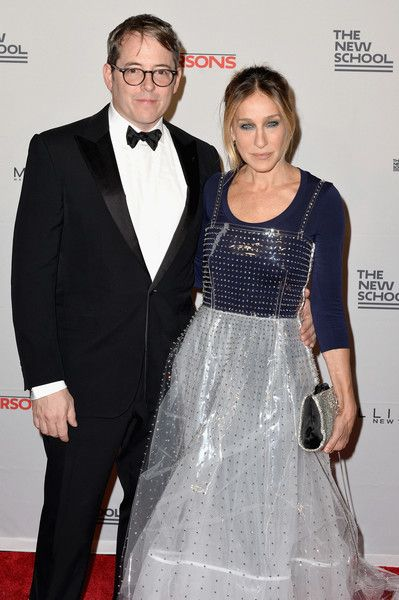 Matthew Broderick and Sarah Jessica Parker attend the 2016 Parsons Benefit.