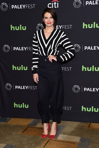 Lauren Cohan attends The Walking Dead red carpet during the 34th annual PaleyFest Los Angeles at the Dolby theatre in Hollywood, on March 17, 2017. / AFP PHOTO / CHRIS DELMAS