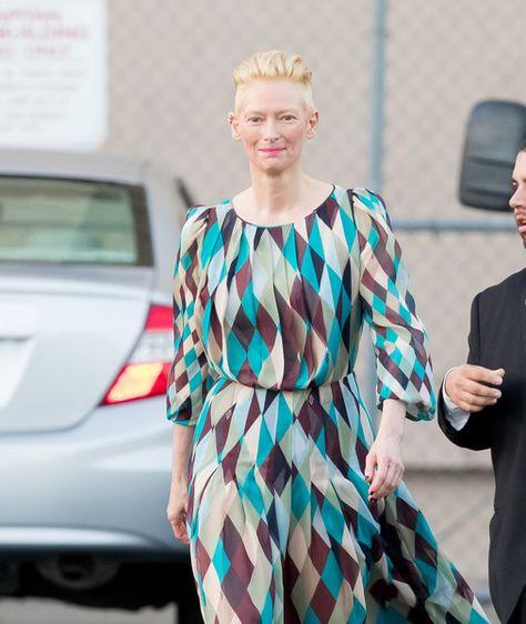 Tilda Swinton is seen at 'Jimmy Kimmel Live.'