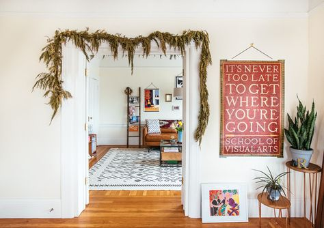 Hanging Garland - A Facebook Creative Director's Art Filled Home - Photos