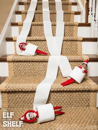 Getting Naughty With Toilet Paper - Elf On The Shelf Ideas - Photos