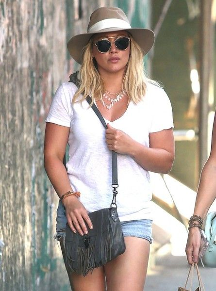 Hilary Duff and a friend head out in New York City.