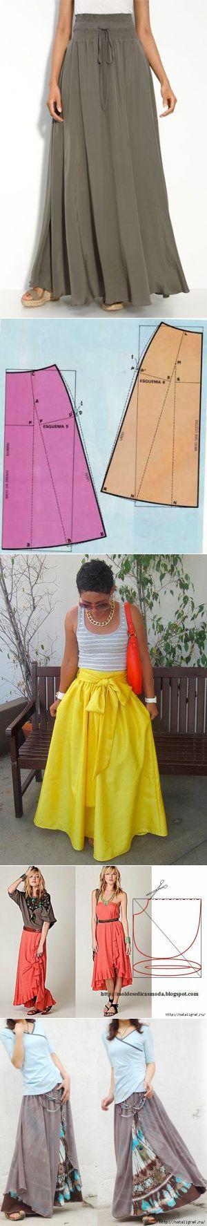 Длинная юбка шить легко и просто