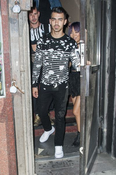 Singer Joe Jonas arrives to Candy Studios in New York City.