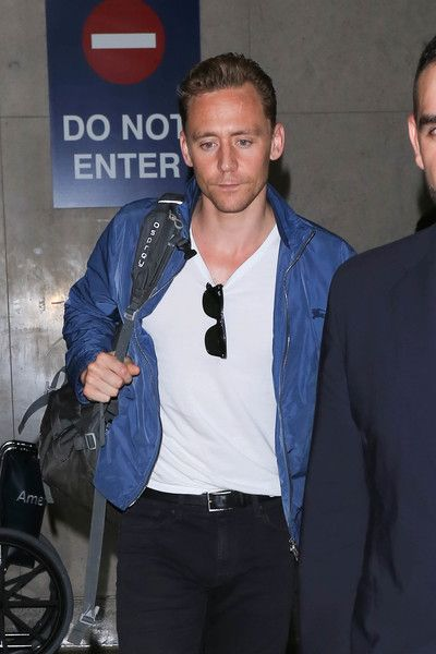 Tom Hiddleston is seen at LAX.