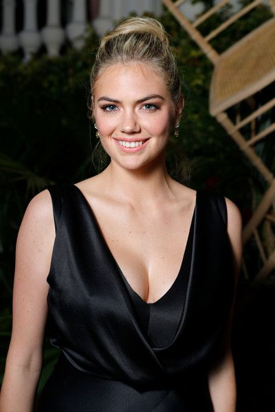 Kate Upton attends the AMORE cocktail reception hosted by Ricardo Roja and Jim Mannino on the Lemon Lemon Terrace during the 70th Annual Cannes Film Festival.