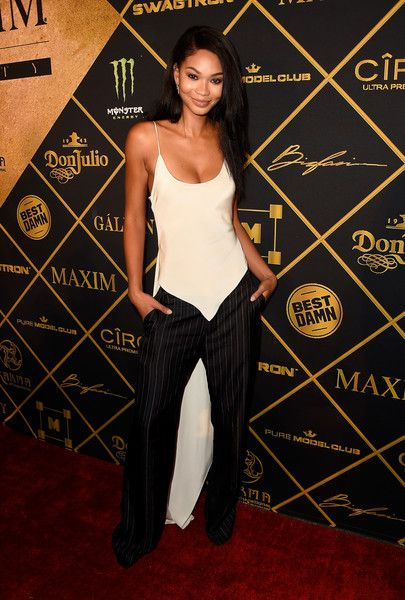 Model Chanel Iman attends the 2016 MAXIM Hot 100 Party at the Hollywood Palladium.