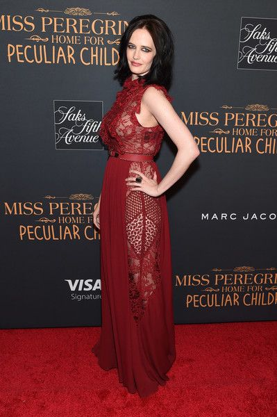 "Eva Green attends the ""Miss Peregrine's Home For Peculiar Children"" premiere at Saks Fifth Avenue on September 26, 2016 in New York City."