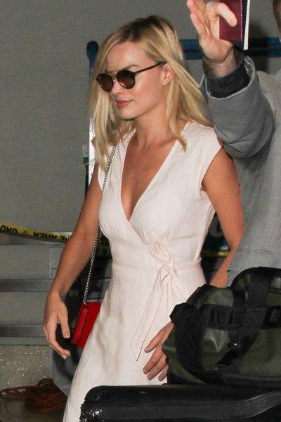 Margot Robbie is seen at LAX.