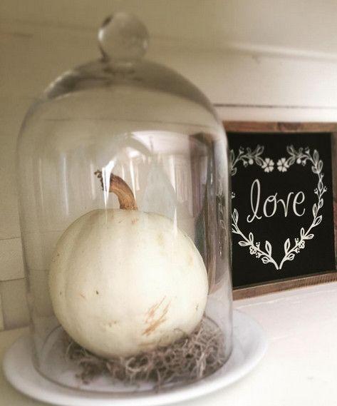 Pumpkin in a Glass Jar - 101 Fabulous Pumpkin Decorating Ideas - Photos