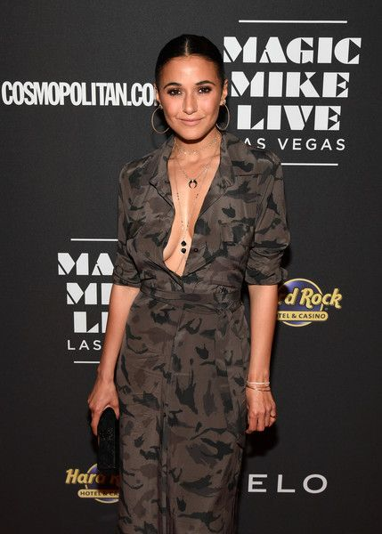Actress Emmanuelle Chriqui attends the grand opening of 'Magic Mike Live Las Vegas.'