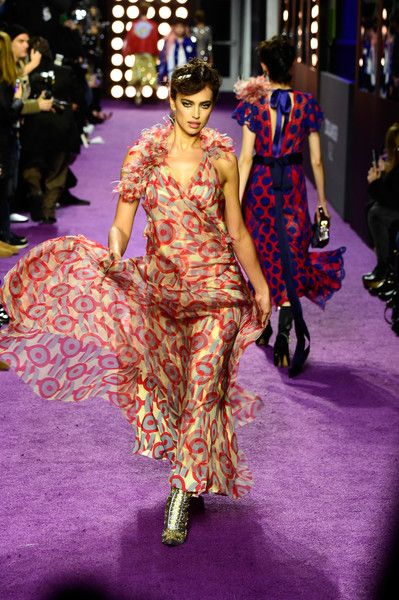 Irina Shayk walks the purple carpet at the 'Zoolander No. 2' World Premiere in New York City.