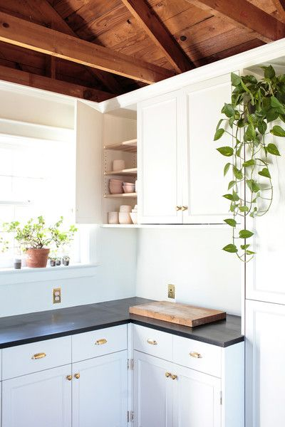A small kitchen in a Nashville cottage.