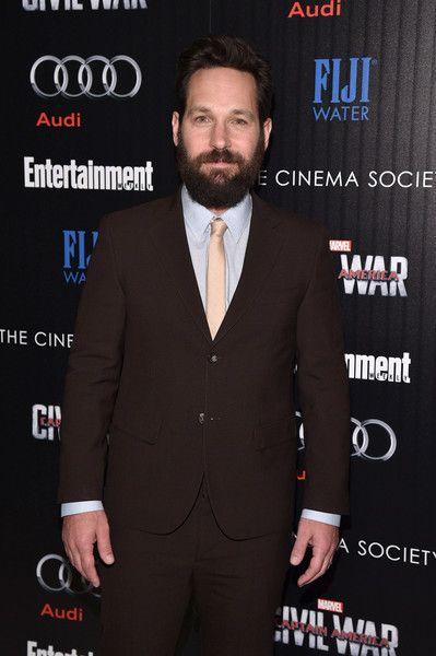 Paul Rudd attends a screening of Marvel's 'Captain America: Civil War.'