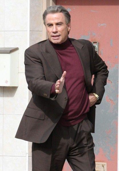 John Travolta on the set of 'The Life and Death of john Gotti'