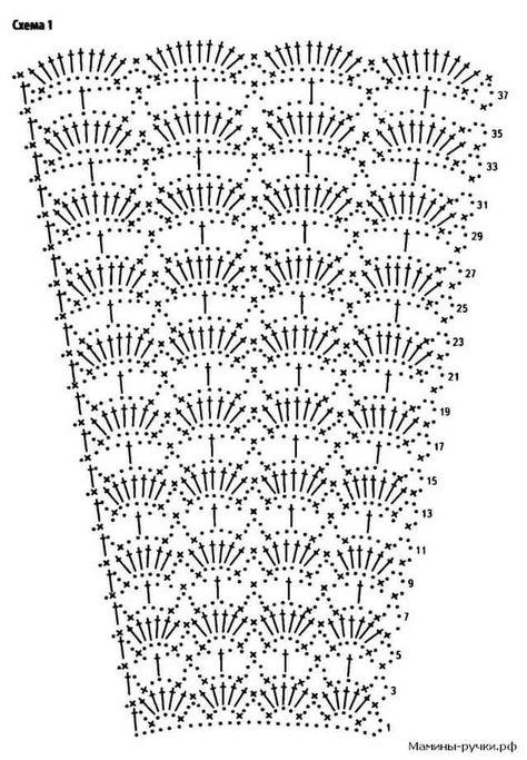 Схемы вязания крючком юбок годе 34