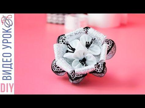 DIY Галстук-бабочка из лент для мальчика делаем своими руками/ Tie butte... школа Pinterest Галстук-бабочка, Школа и Броши