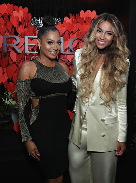 TV personality La La Anthony and singer Ciara attend the Revlon x Ciara launch event.