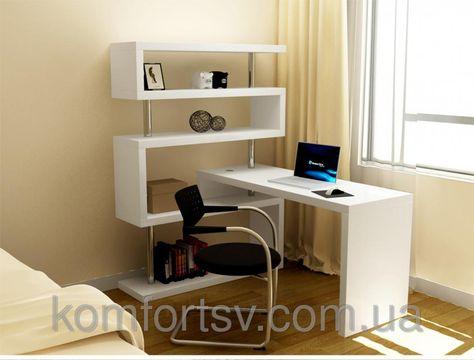 Компьютерный стол Мебелайн-44 - Большой угловой компьютерный стол с двумя встроенными тумбами! - Mebelestro Компьютерные столы P