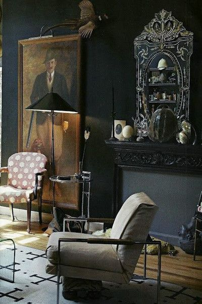 Create An Atmosphere - Our Favorite Dark Living Spaces - Photos