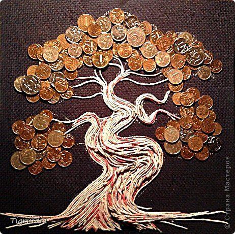 Денежное дерево своими руками из салфеток 50