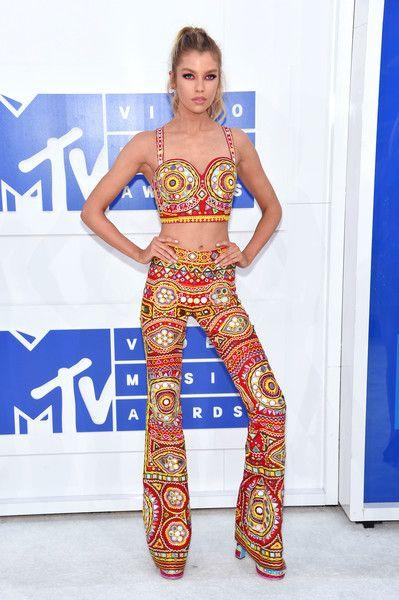 Model Stella Maxwell attends the 2016 MTV Video Music Awards.