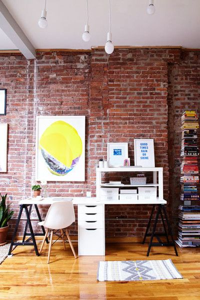 Office Space - A Gallerist's Industrial, Artful Brooklyn Home - Photos