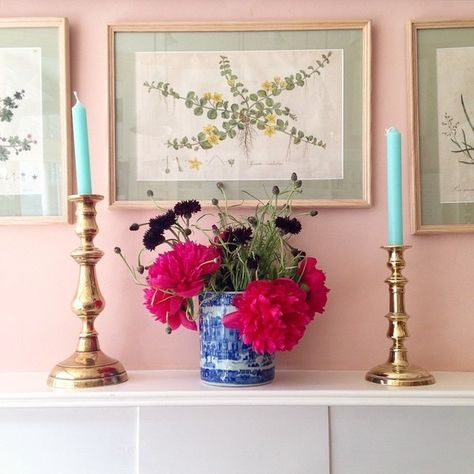 Buzzy English designer and Instagram Stories featuree Luke Edward Hall popped a tropical pair into an otherwise classical scene, for a playful, and highly Instagrammable vignette.
