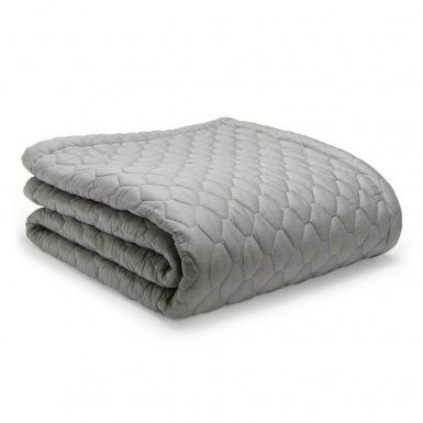 Grey bed throw from Mille Notti