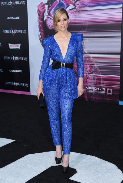 Elizabeth Banks attends the premiere of 'Power Rangers' at the Village theatre in Hollywood.