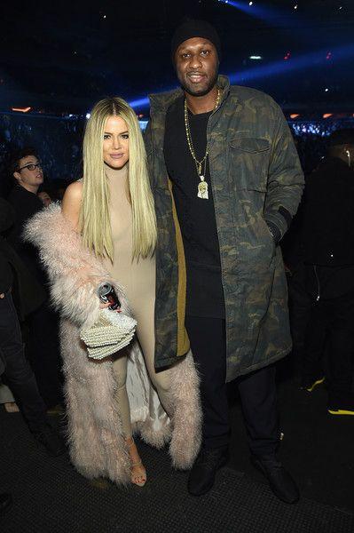Khloe Kardashian and Lamar Odom attend Kanye West Yeezy Season 3 on February 11, 2016 in New York City.