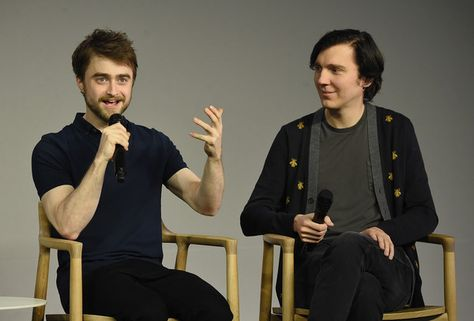 """Daniel Radcliffe and Paul Dano attend The Apple Store Presents: Daniel Radcliffe And Paul Dano, """"Swiss Army Man"""" at Apple Store Soho on June 27, 2016 in New York City."""