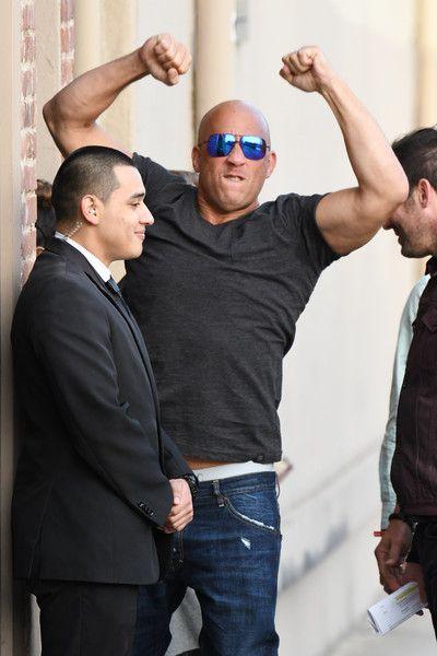 Vin Diesel is seen at 'Kimmel.'