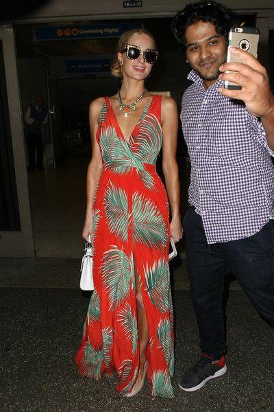Paris Hilton is seen at LAX.