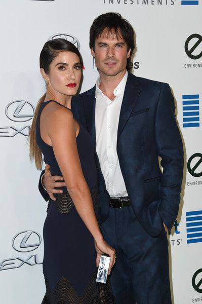 Nikki Reed and Ian Somerhalder attend the 26th annual EMA Awards at Warner Bros studio lot in Burbank.