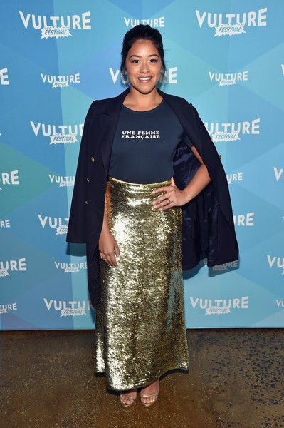 Actress Gina Rodriguez attends the 'Jane The Virgin' panel discussion at the 2017 Vulture Festival.